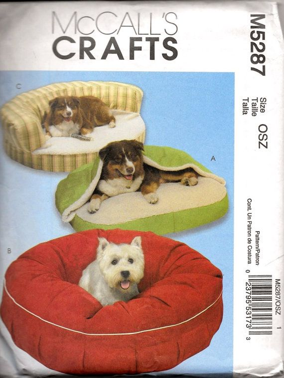 Mccall S Crafts 5287 Dog Pet Bed Sewing By Vintagepattern