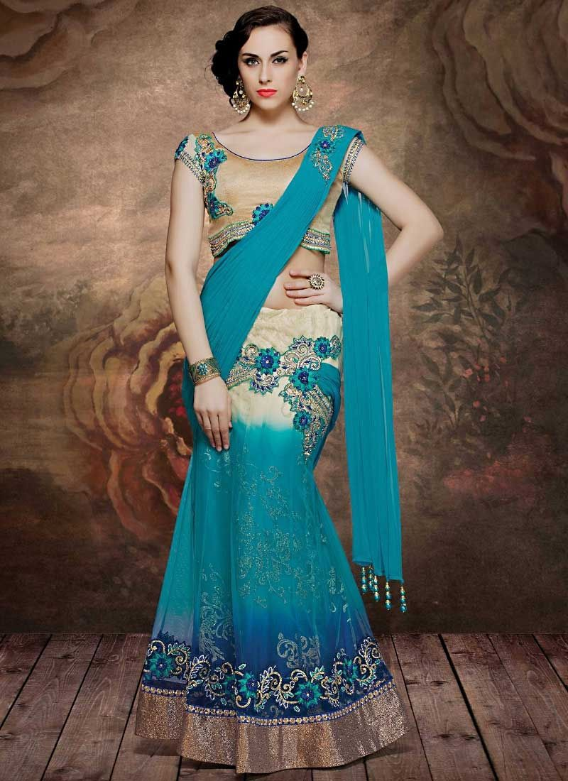 Heavenly Teal Net Designer Lehenga Choli | Lehenga Choli | Pinterest ...