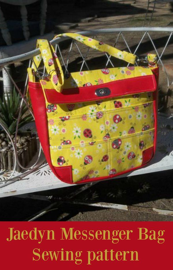Jaedyn Messenger Bag - free   Messenger bag, Sewing patterns and Bag