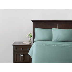 Canopy 400-Thread Count Sateen Sheet Set in sea glass green  sc 1 st  Pinterest & Canopy 400-Thread Count Sateen Sheet Set in sea glass green | my ...