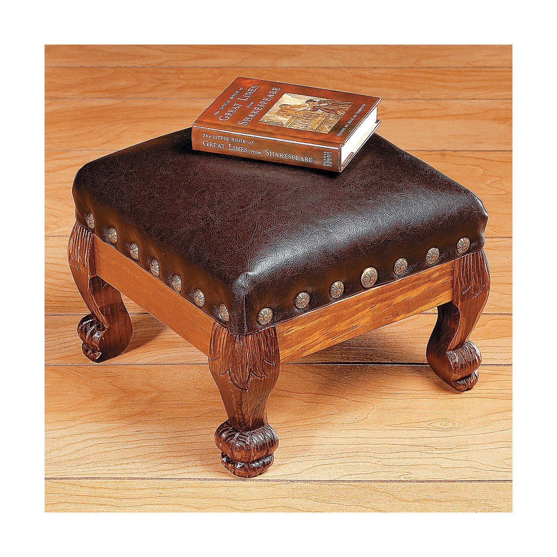 Footstool Orientaltrading Com Leather Footstool