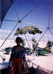 24ft geodesic dome - metal frame  @Oleg this is similar to the one you posted, by the same dude, little less expensive $1070