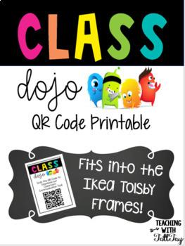 Class Dojo QR Code for Ikea Tolsby Frame Class dojo
