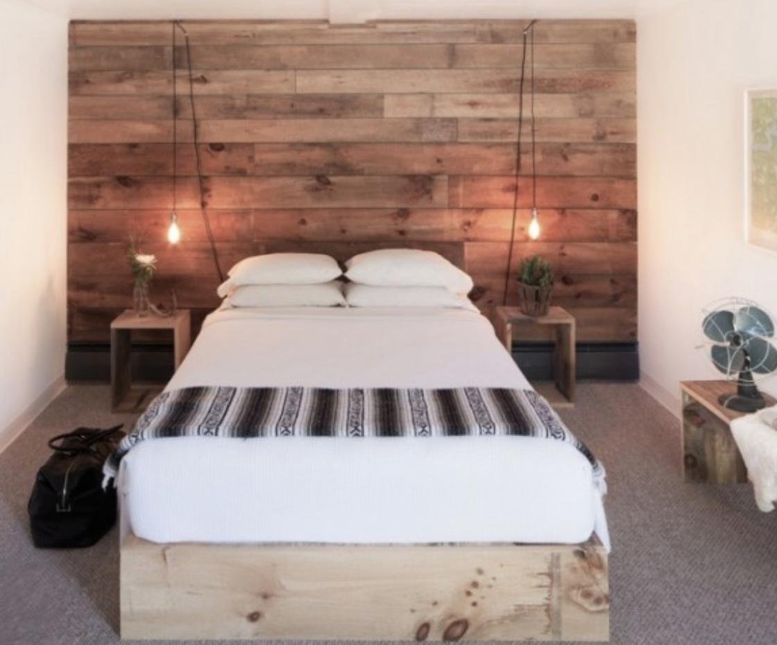 Muros revestidos en madera como cabeceras!! | Interiores | Pinterest ...