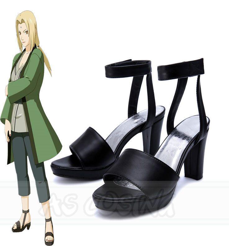 Naruto Tsunade 1st Cosplay Ninja Shoes Summer Sandal Boots Handmade