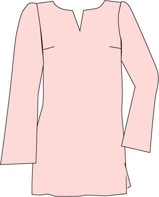 La base superior túnica puede ser un pull-over, como se muestra, o tiene una abertura delantera o trasera.  Sea cual sea el estilo de agregar detalles, la túnica es una más, y sólo un poco más relajado, la versión de la blusa.