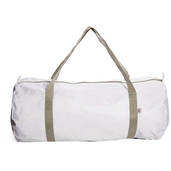 American Arel Duffle Bag In White 38 Liked On Polyvore Featuring Bags Nylon Duffel And Zip Top