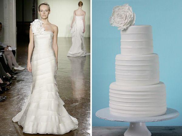 tartas nupciales inspiradas en vestidos de novia via bodabella.es