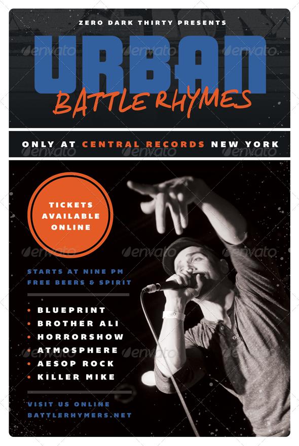Battle Rhymes Hip Hop Flyer Template By Furnace Battle Rhymes Hip