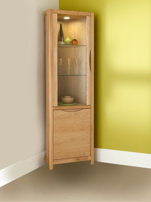 The Penthouse Collection Corner Display Cabinet Corner Display Cabinet Wall Display Cabinet Oak Corner Cabinet