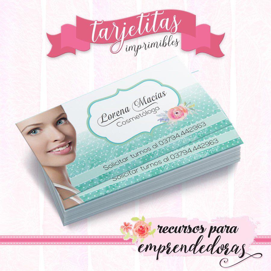 Tarjeta personal para estética - Personal para cosmetóloga ...