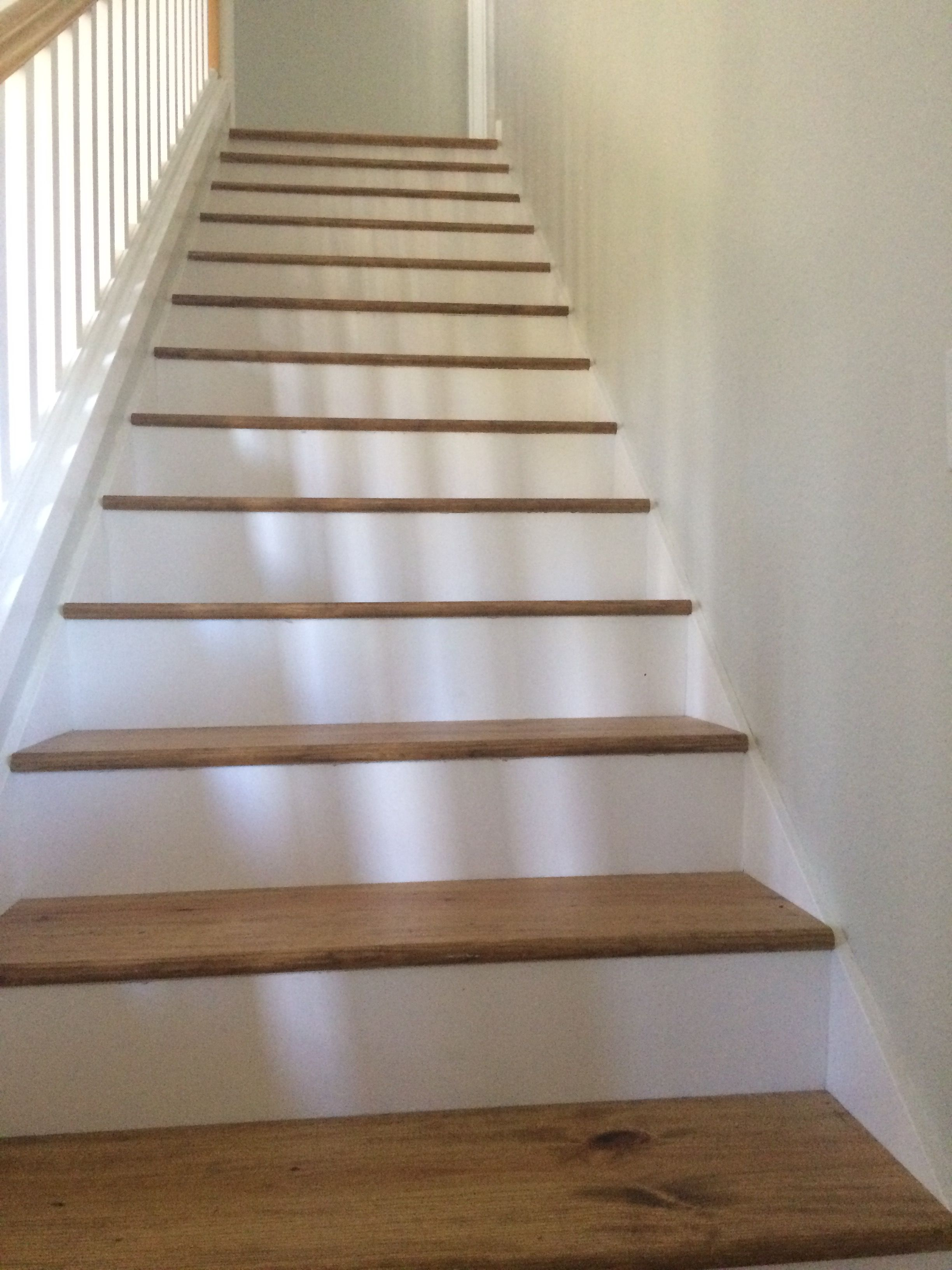 White Amp Pine Floor Stair Treads Removed Carpet For A