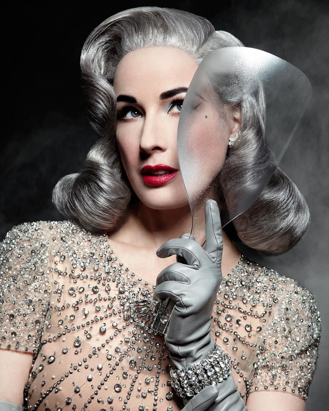 aae1e89bfb69 love Dita Von Teese with silver hair!!