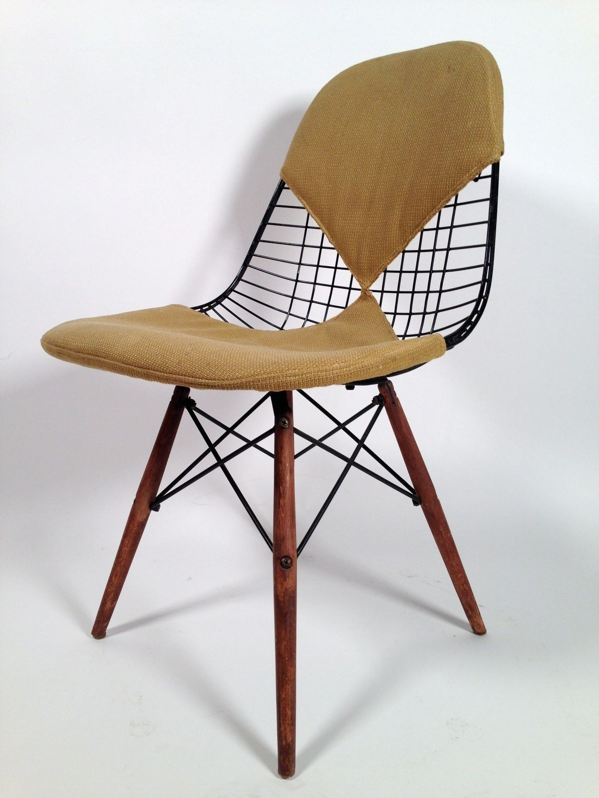 Early Eames Herman Miller DKW 2 Wire Chair 1952
