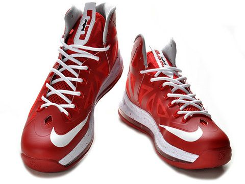 Nike LeBron 10 Bred Red White,Style code: 541100-166,It features a red  hyperfuse upper with white accents including swoosh, midsole and laces.
