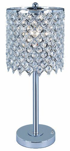 Good Park Madison Lighting Contemporary Crystal Table Lamp With Polished Chrome  Finish And Hand Crafted Shade,