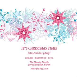 "Free Christmas Invitation Templates Winter "" Printable Invitation Templatecustomize Add Text And ."