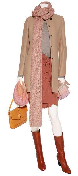 Love it! Terracotta Silk Wrap Skirt