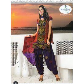 Punjabi Kudi - 1144SHO6OMRE - Embroidery Patiyala Suit
