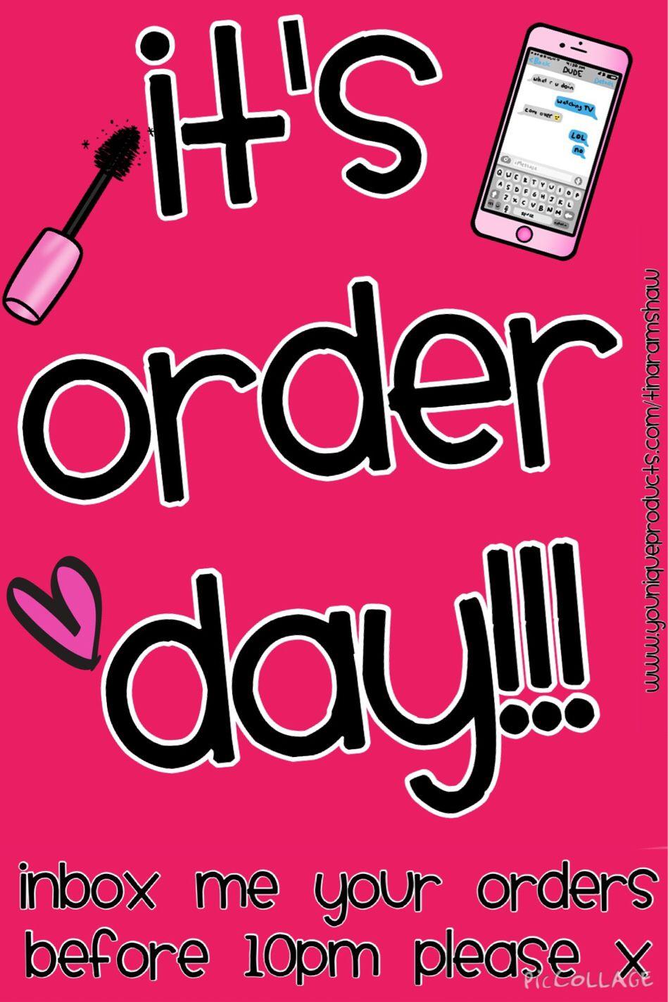 It's order day!!! love younique makeup Younique