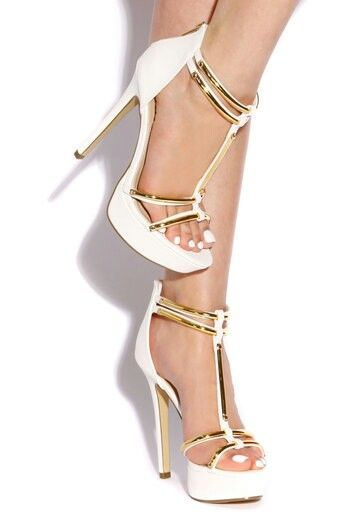 8fb41ded57b Zapatos | Clothes & Accessories | White high heel sandals, Shoes ...