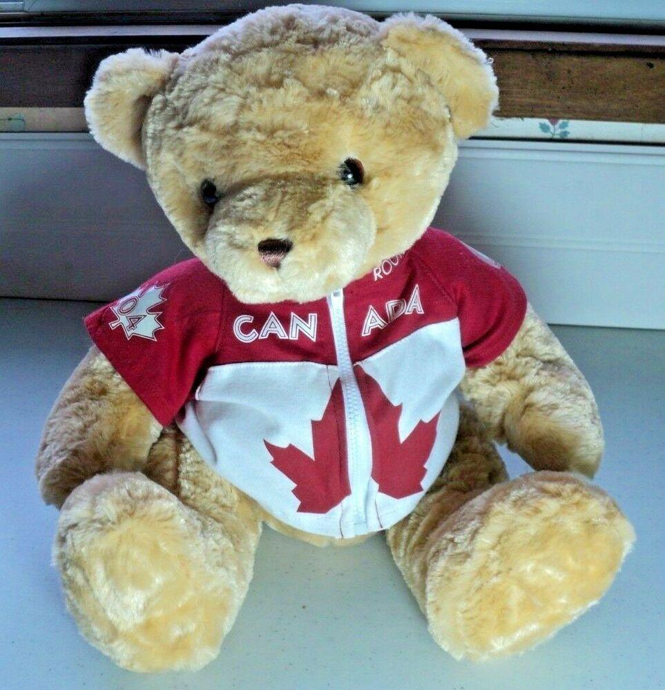 Roots Canada Plush Stuffed Teddy Bear Official Canadian Olympic Team Jacket 15 Roots Teddy Bear Teddy Bear Cartoon Bear [ 1000 x 963 Pixel ]