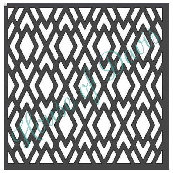 Diamond Lattice Stencil Style 5 12x12 by HouseofDavis on Etsy