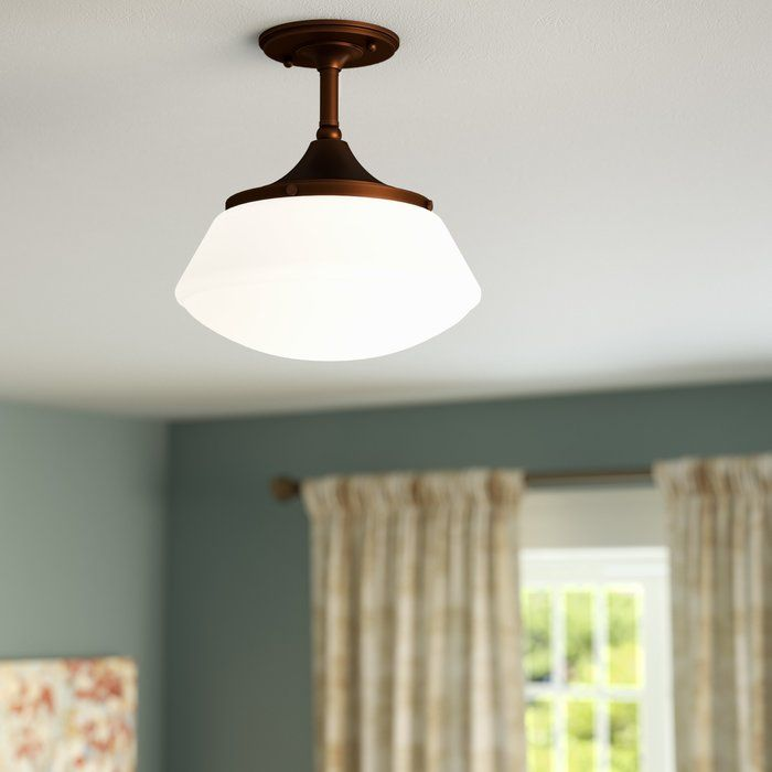 Elk Lighting Modern Farmhouse: Savane 1-Light Semi-Flush Mount