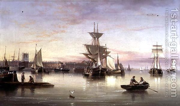 Hull From The Humber 1874 Painting By Henry Redmore Reproduction 1st Art Gallery Boat Painting Hull Art Gallery
