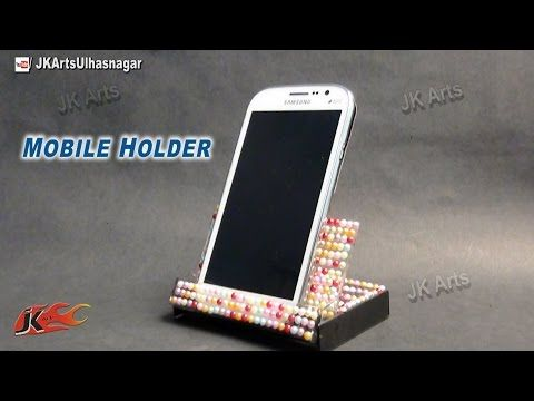 Diy phone holder from cassette case best out of waste for Best out of waste with paper