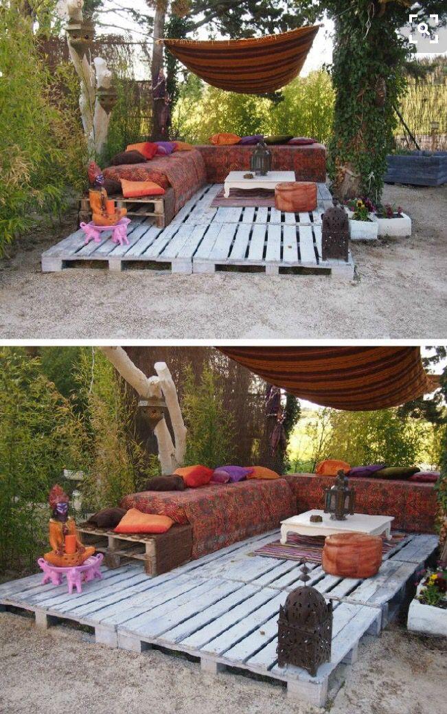 Épinglé par Mélanie Remy sur jardin | Jardins, Meuble jardin palette ...