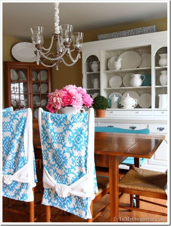Dining Room Chair Slipcover Tutorial I Love The Removable Inserts She Puts