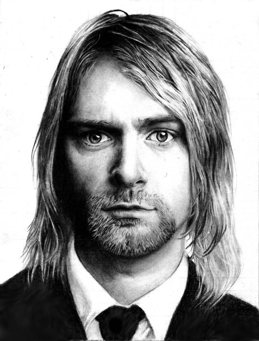 f96155624 Kurt Cobain drawing Kurt Cobain, Nirvana, Famous Faces, Cool Art, Awesome  Art