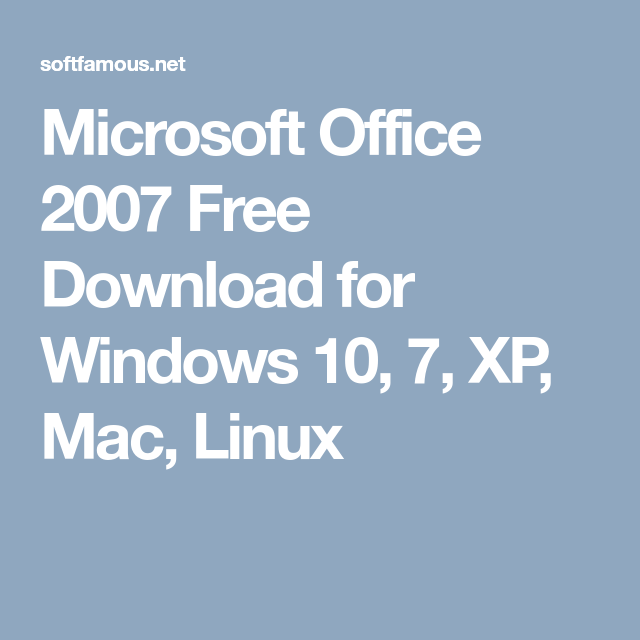 download office 2007 free for mac