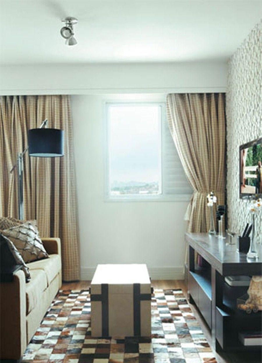 Decora o de sala de estar pequena 50 dicas poderosas - Como decorar una sala pequena ...