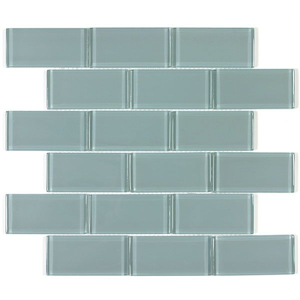 Order for kitchen. Glass water tile at the tile shop