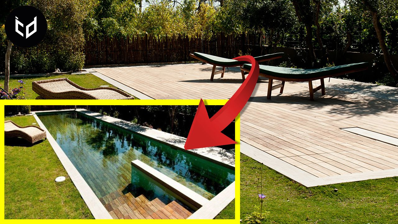 Hidden swimming pools movable floor pool cover systems