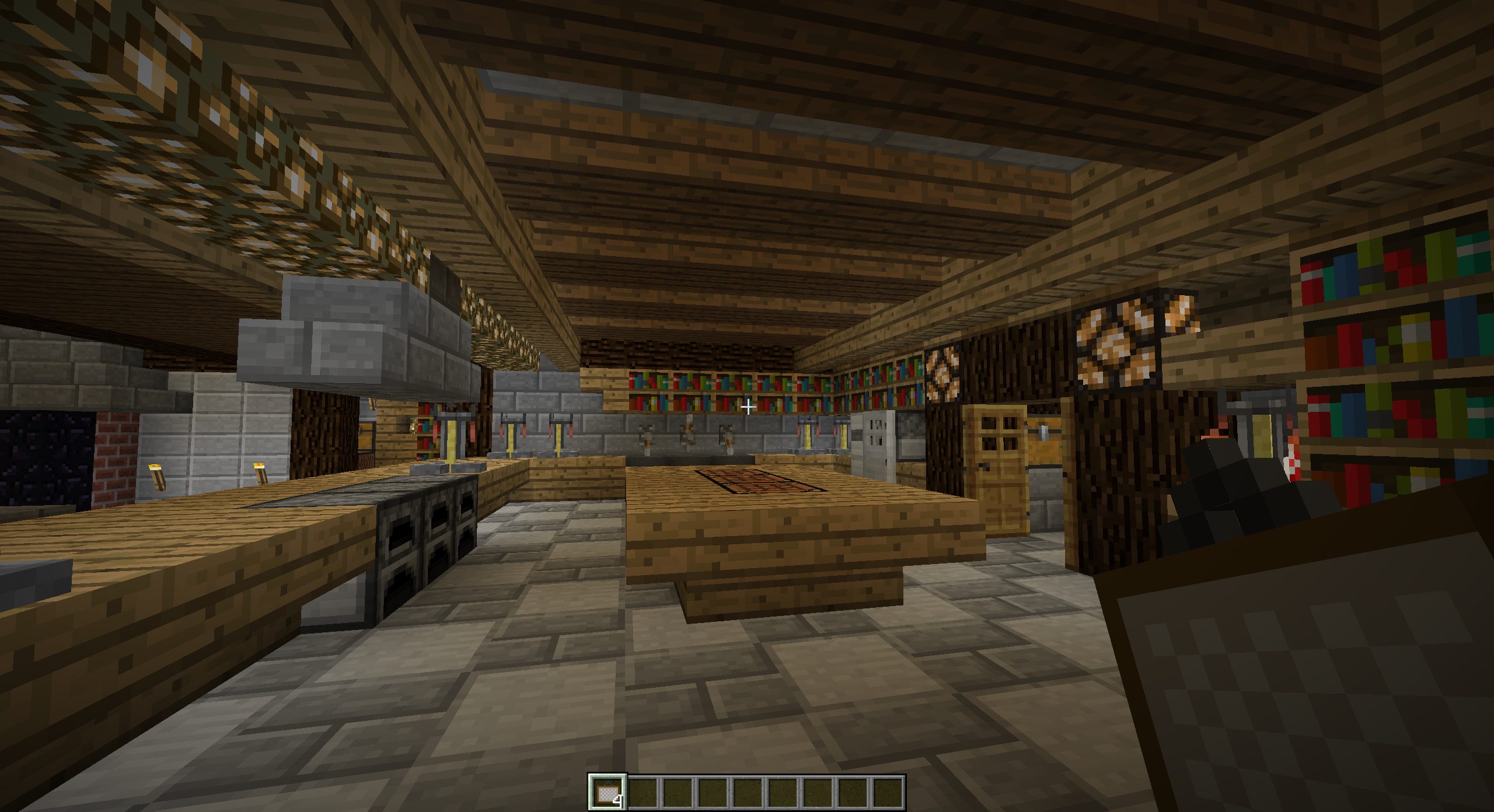 Minecraft Kitchen Xbox The Kitchen From My Underground Mansion Minecraft Pinterest