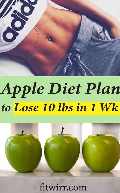 5 Day Apple Diet Plan to Lose 10 Pounds in a Week #diet