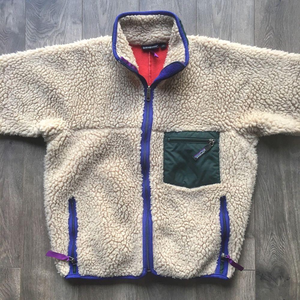6459758e061 Vintage Patagonia Fall 1990 Deep Pile Retro-X Fleece Jacket - Size Medium   Patagonia  RetroXFleeceJacket