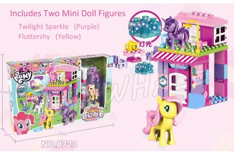 4types Horse Princess Castle Twilight Sparkle Rarity Fluttershy