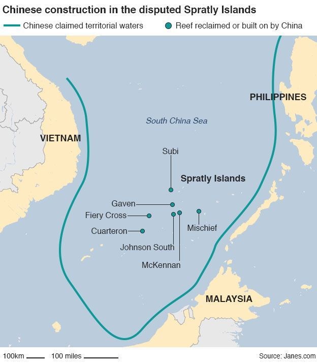 China Fury At US Illegal Ship Passage - Us territorial waters map