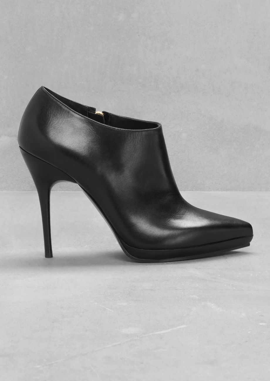 Low-Cut Ankle Boots | Black | & other stories, Leather and Shoes