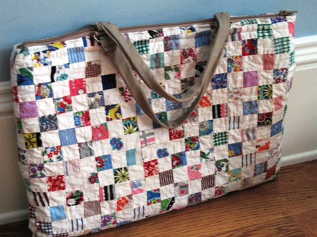 Laptop bag from old quilt | by afewscraps