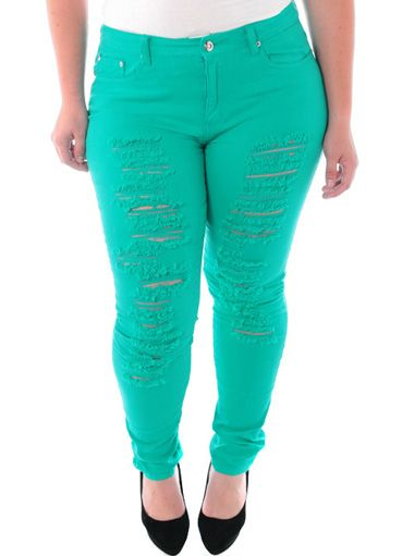 Distressed Plus Size Skinny Jeans Jean Sto