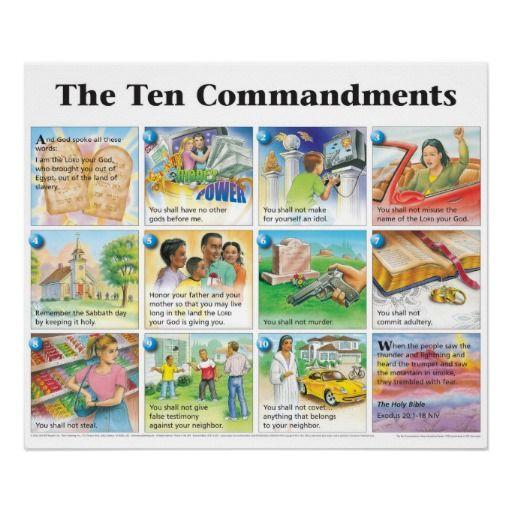 the ten commandments niv poster