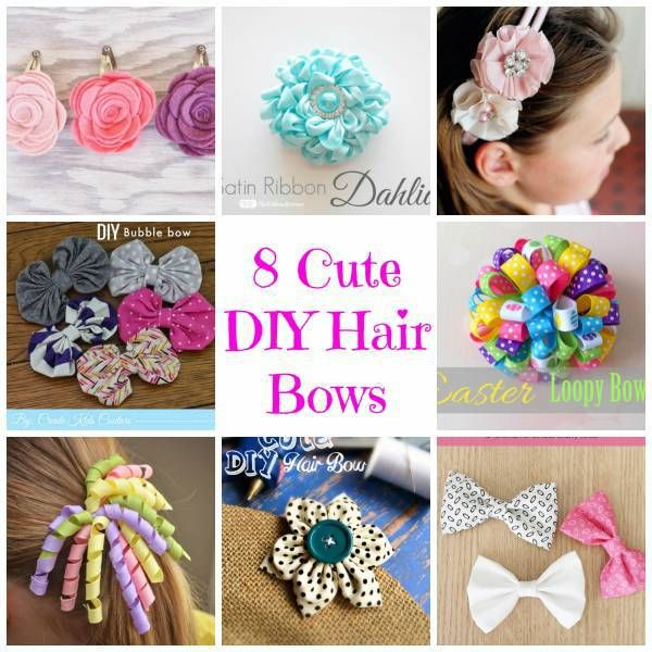 8 Cute Diy Hair Bows Craft Gossip Diy Hair Hair Bow And Craft