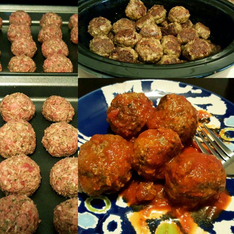 Homemade Spicy Italian Meatballs