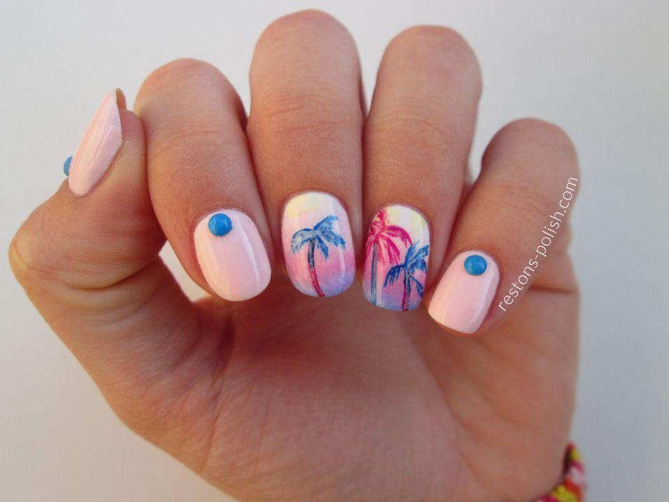 Sunset Nail Art | Sunset nails, Nails, Nail art