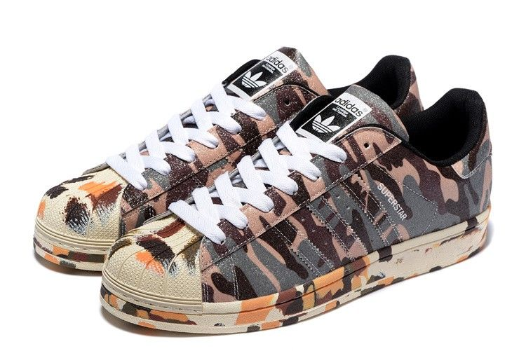 pretty nice bed01 6ca5d Adidas Superstar II Brown camouflage Originals Mens Womans shoes M25961